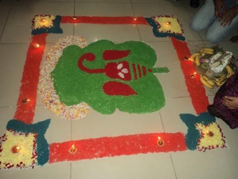 Vinayaka Chavithi (Lord Ganesh) celebration at work 2